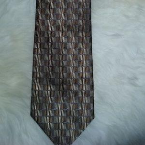 Italian silk designer tie, classic, Pavone , EUC